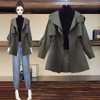 大码女装2020年秋冬装新款洋气减龄风衣胖妹妹时尚显瘦200斤外套