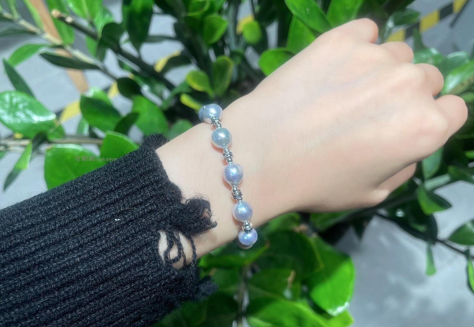 日本海水真多麻巴洛克珍珠爱心款手链同项链款洛颗颗rokeke