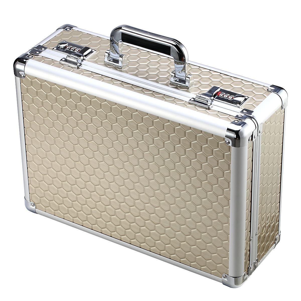 金庫の暗証番号の書類箱の家庭用金庫の装身具の携帯型小型の携帯用のケースは盗難防止のため車載しています。