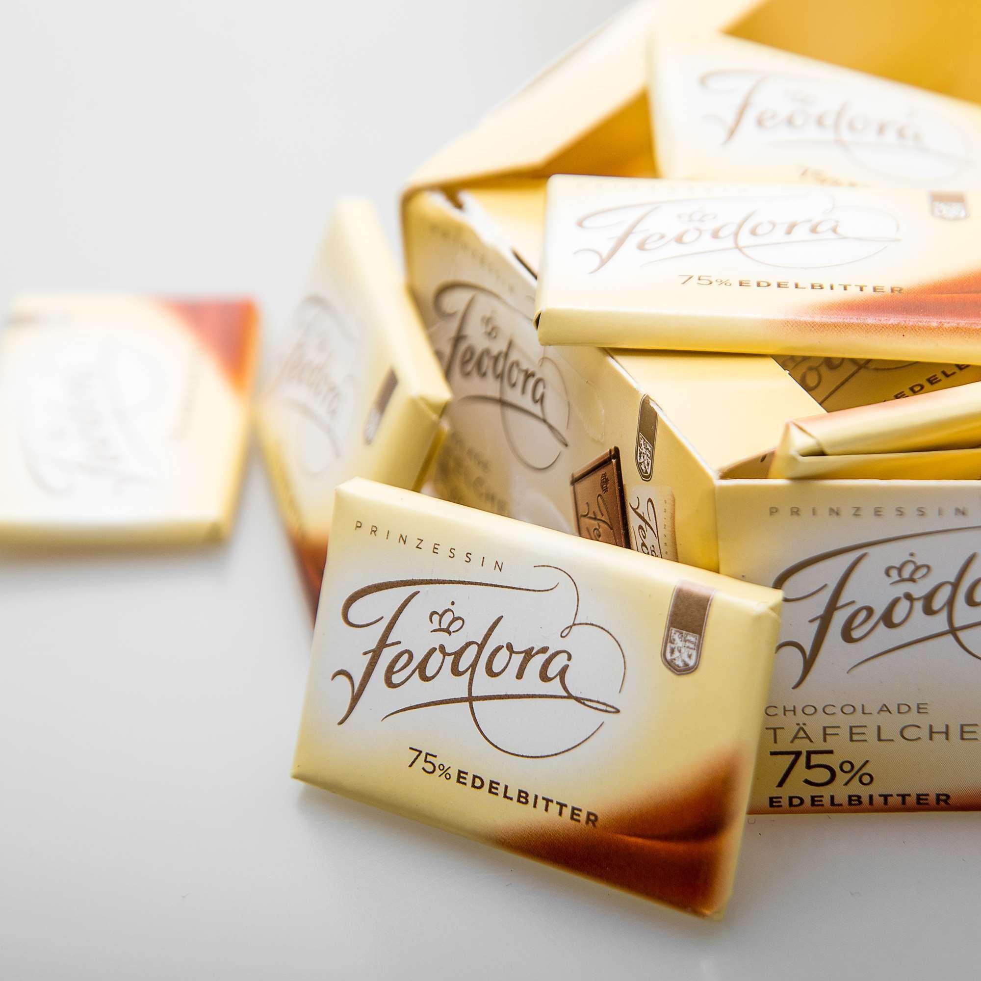 德国feodora公爵夫人赌神进口黑巧克力60%75% 20片散装 150g 免