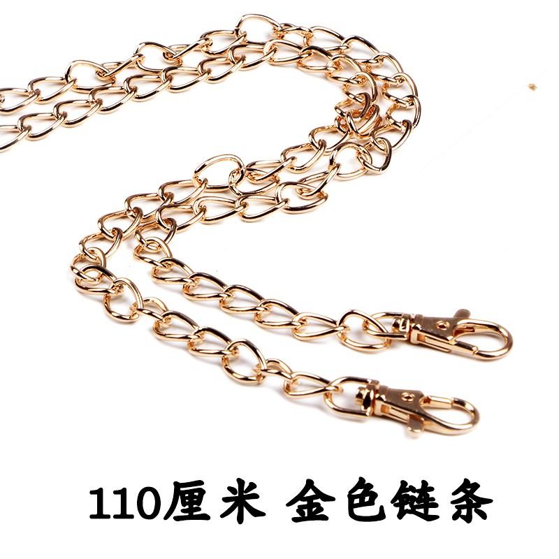 高档女买条带单带金属链包链单肩肩链包链子背包带子奢华