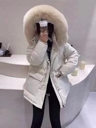东大门羽绒服女冬中长款2020年新款修身显瘦抽绳白鸭绒小个子外套