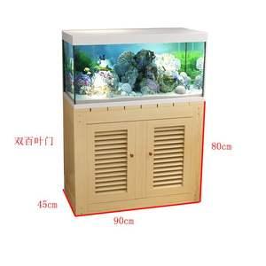 鱼缸底柜木制鱼缸底座架子家用小型多层组合简易实木鱼缸柜定做