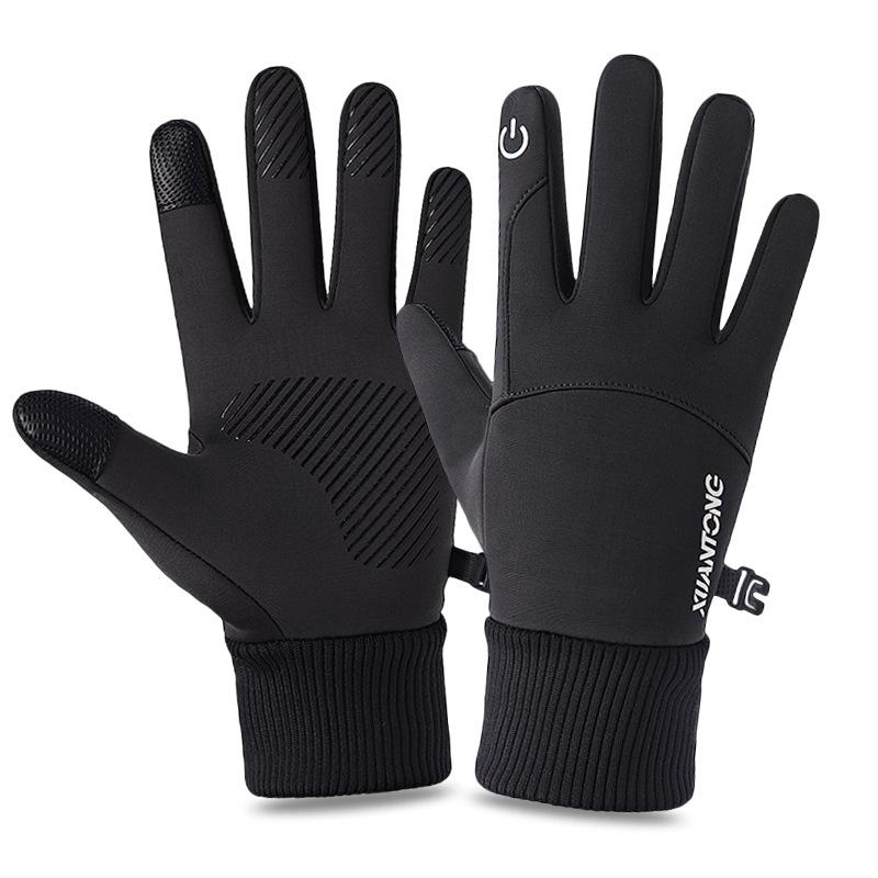 防风防水保暖冬季户外骑行手套滑雪骑车触摸屏加绒开车摩托车男女