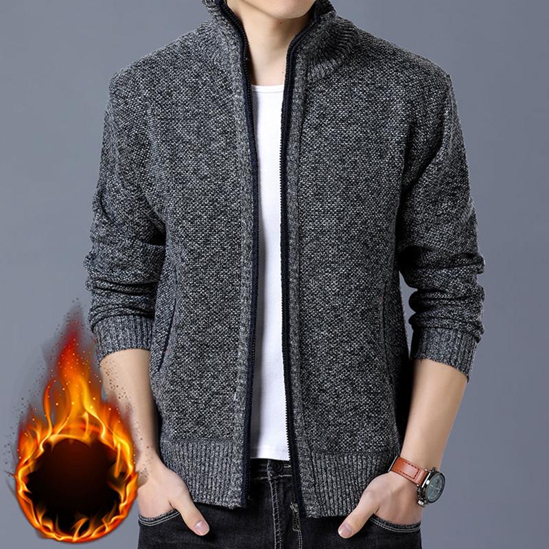 外套男针织衫秋冬装新款立领开衫毛衣2020休闲男装加厚上衣服潮