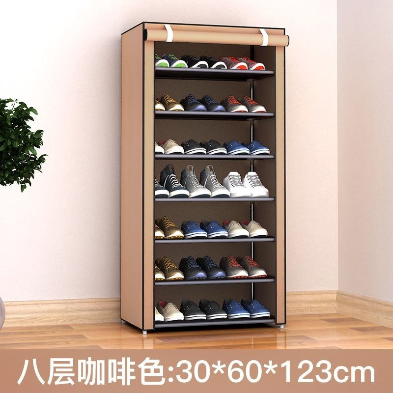 Shoe rack dustproof canvas single sale shoe cabinet simple fabric thickened cover coat wardrobe cloth cover waterproof