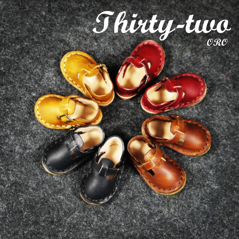 包邮6分BJD娃娃鞋明星玩偶鞋子 手工制作头P层植鞣革牛皮迷你皮鞋
