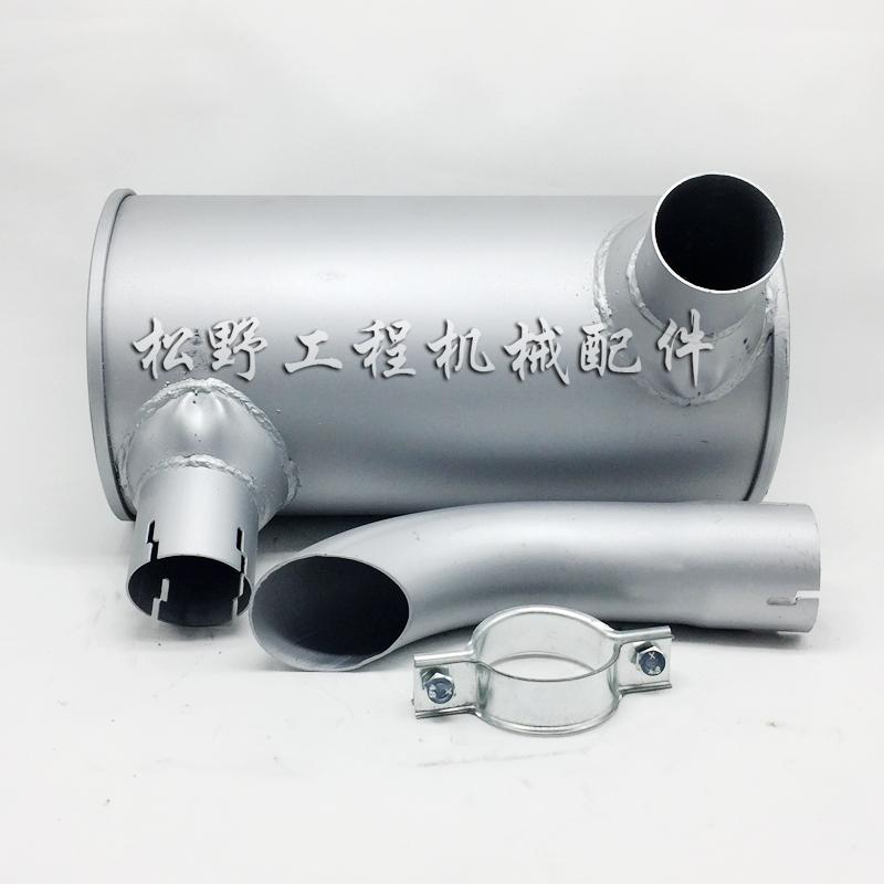 挖掘机小松60-7 100 120-6 128-2消声器消音器排气管烟筒大小机。