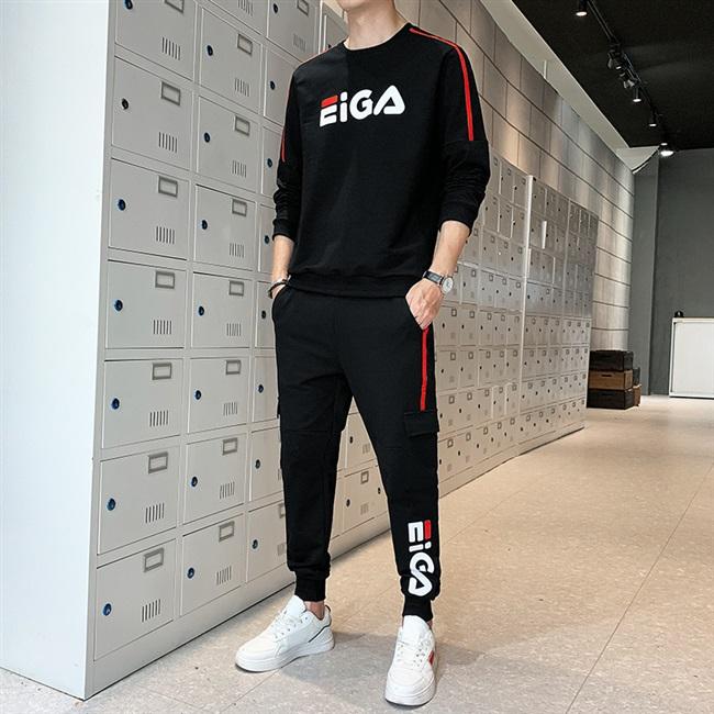 运动套装男韩版潮流青少年帅气秋装男士秋季休闲男装2020年新款潮