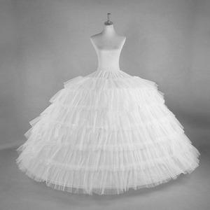 衬裙加长超蓬特大新娘婚纱礼服演出6钢6纱圈可调节六骨裙撑演出裙