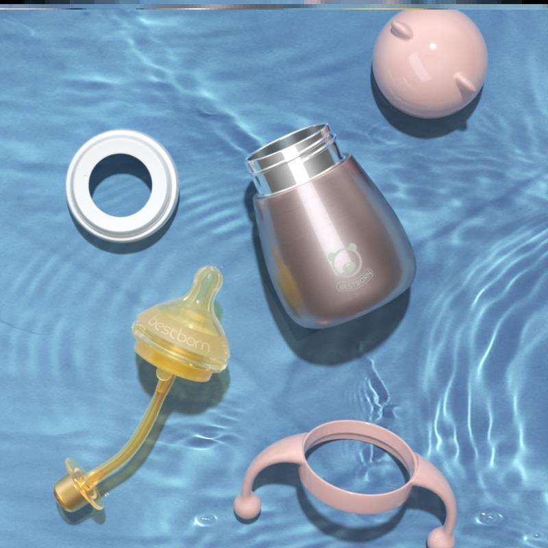 婴儿保温杯奶瓶奶壶两用初生吸管多用冬天小巧180ml耐摔宝宝幼婴