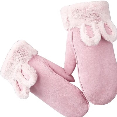 Gloves are lovely for women in winter. Japanese is a kind of lovely soft girl with fingers and neck. Its warm in winter, plush and thickened in Korean