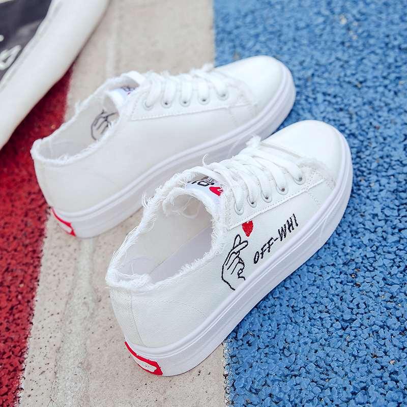 タオバオ仕入れ代行-ibuy99 运动鞋 秋季12大童少女孩帆布鞋子13百搭女生板鞋14初中学生运动布鞋15岁