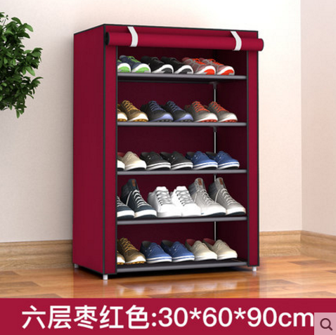 Shoe cabinet cloth dust cover shoe rack dust cover Oxford canvas multilayer simple shoes with cloth cover