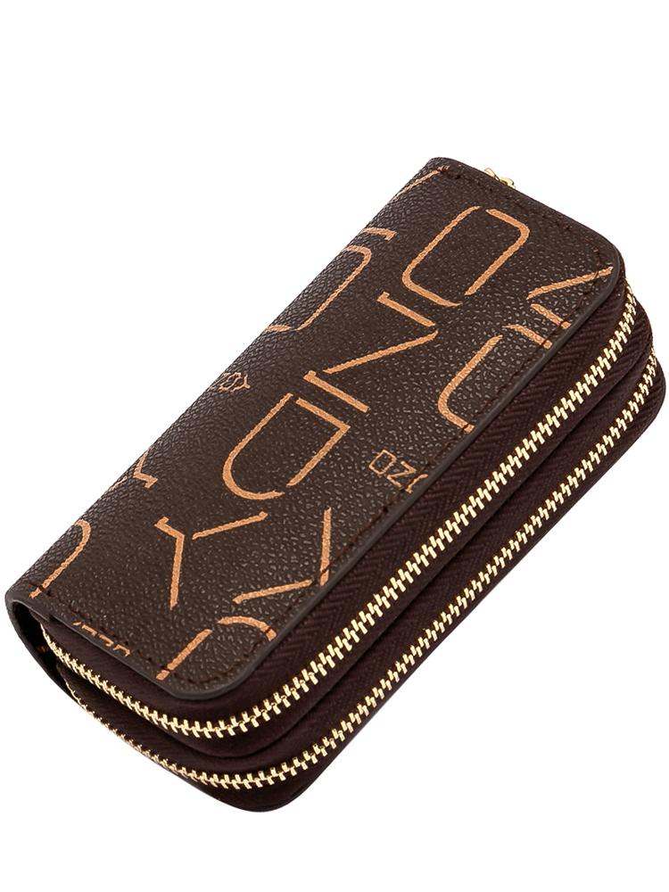 钥匙包女小巧大容量多功能双层零钱包卡包二合一收纳包车钥匙2021