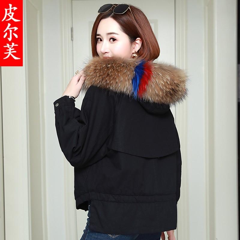 大毛领羽绒棉衣女装2020秋冬季新款韩国ins短款宽松外套时尚棉袄