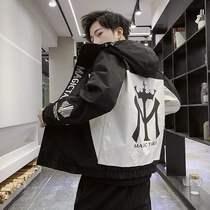 新款男2020春秋季新品男装外套韩版休闲工装夹克衫潮流男士