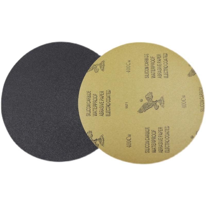 金相8寸0mm胶圆形砂纸干z湿两用抛光打磨2mm研磨砂纸