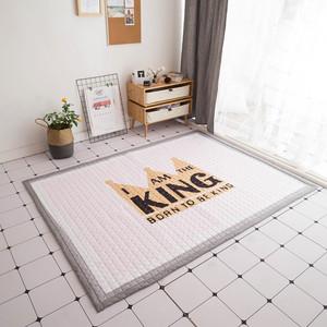 高档北欧棉质加厚儿童爬爬垫可折叠防滑机洗家用卧室可野餐带包装