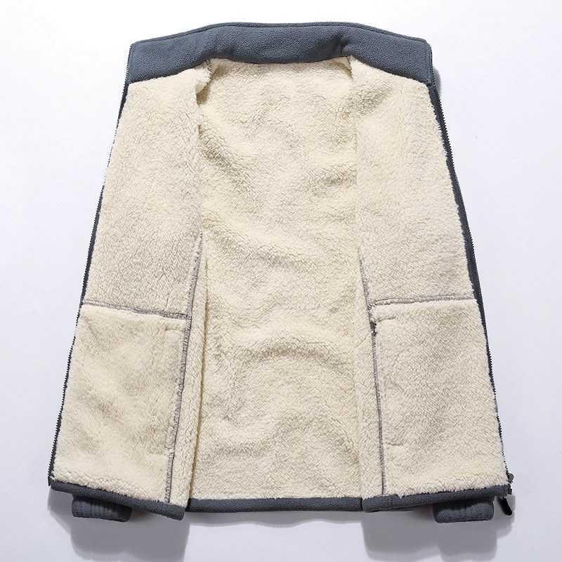 . Super large middle-aged and old peoples coat warm liner jacket father fat mans coat Plush thickened fat man big
