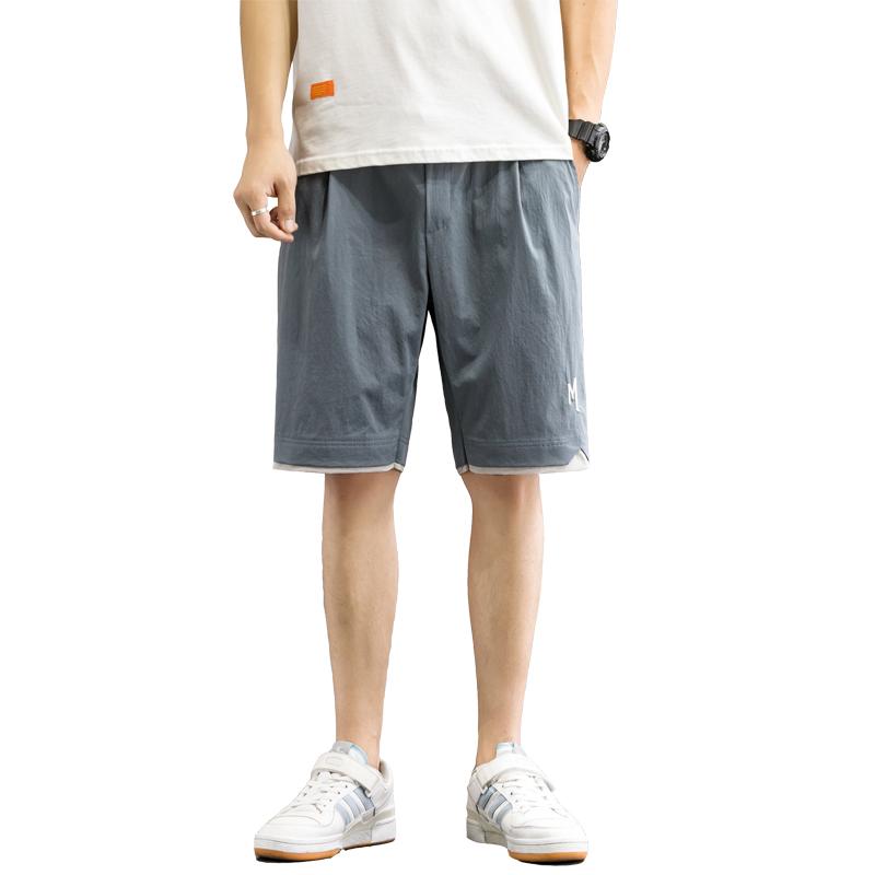 2021新款短裤男士运动速干五分休闲裤沙滩中裤