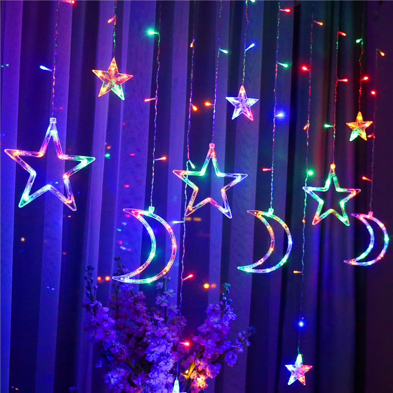 led星星灯小彩灯闪灯串灯满天星网红卧室浪漫房间窗帘装饰品布置