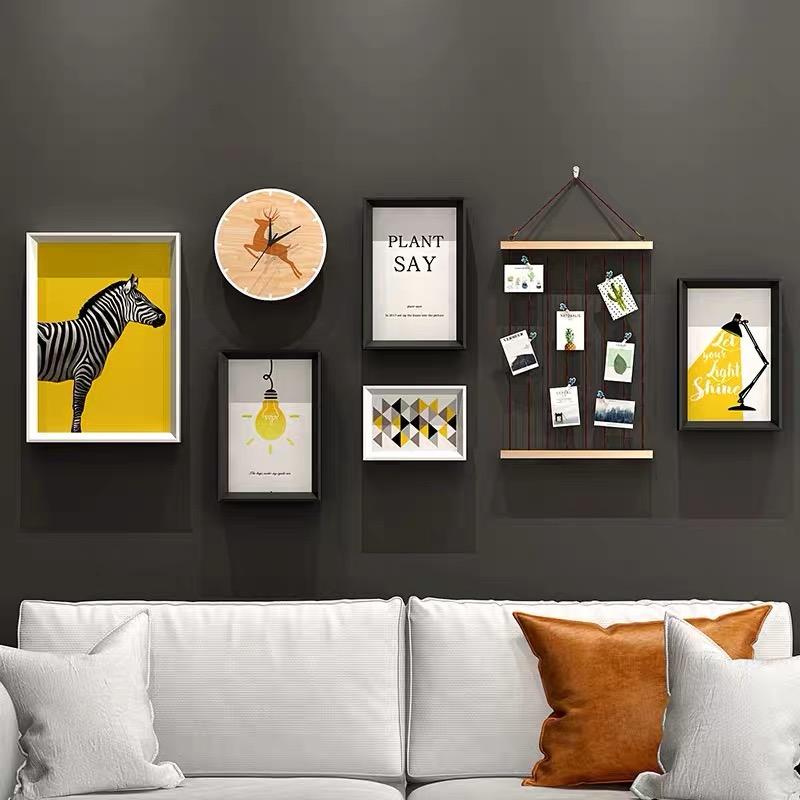 创意客厅餐家f背景墙壁装饰挂件厅居挂饰卧间房室绿植物墙面装饰