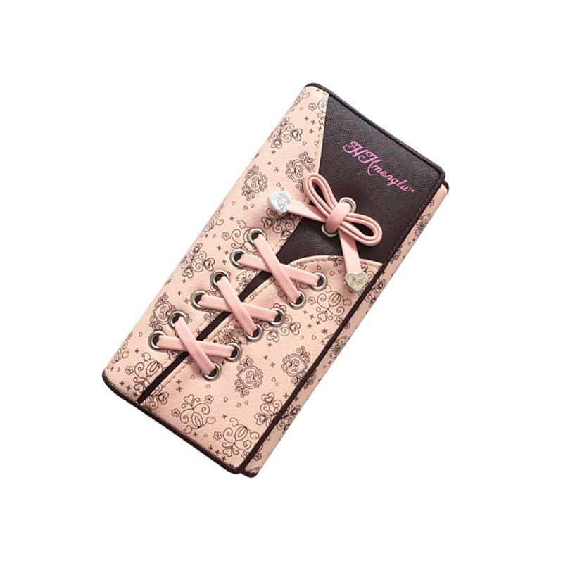 女士手拿包2020年新款手机钱包一体包长款小众设计简约三折钱夹