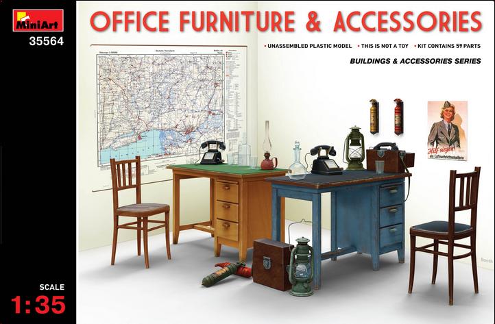 铸造MiniArt1/3535564场景配件办公设备家具附属品