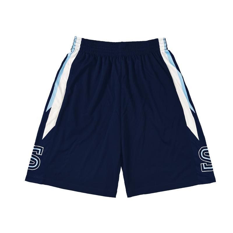 日落东单街头篮球裤定制湘短篮球北裤街球男运动V训练热身运动裤