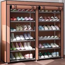 简易经济型鞋架多层防尘有拉链鞋柜家用门口布鞋柜家用防尘简易