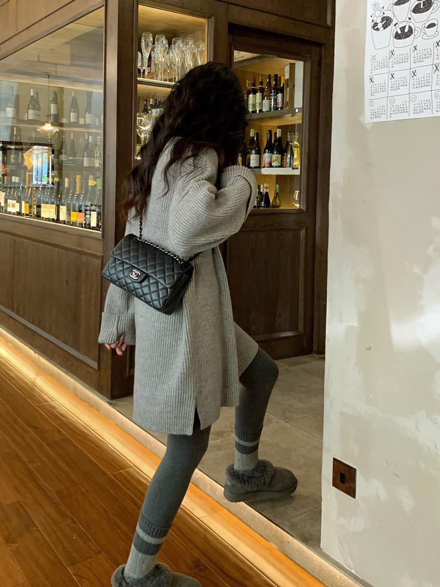 任小艺软糯系慵懒风毛衣裙小个子藏肉针织连衣裙女短款打底裙秋冬