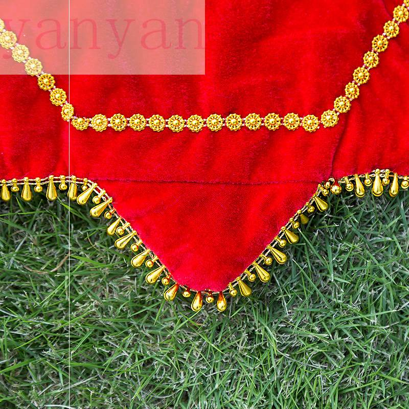 儿童成人跳舞舞蹈专业的手帕广场舞方巾娟花大红色手绢手巾。