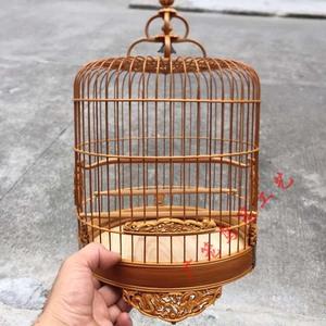芙蓉鸟竹笼竹制绣眼笼A雕花波老装饰广式鸟笼子笼