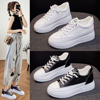内增高小白鞋女2021夏新款松糕厚底爆款小个子女鞋春秋款休闲板鞋