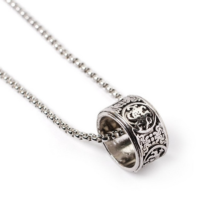 Lovers trend retro ring fashion punk rock accessories pendant necklace personality men and women hip