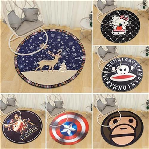 Round carpet guest brain chair bed chair hanging basket mat yoga machine home floor mat childrens bedroom electric hall. For edge washing