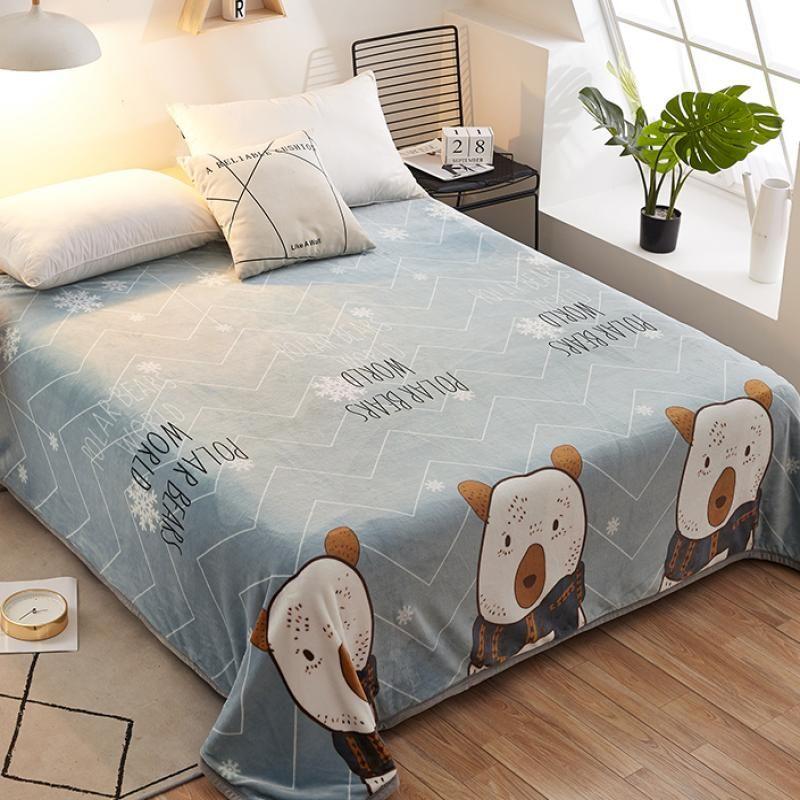 毛毯被单被套成人加绒面料花边薄绒宾馆款冬丝绒可爱学生毯子儿童