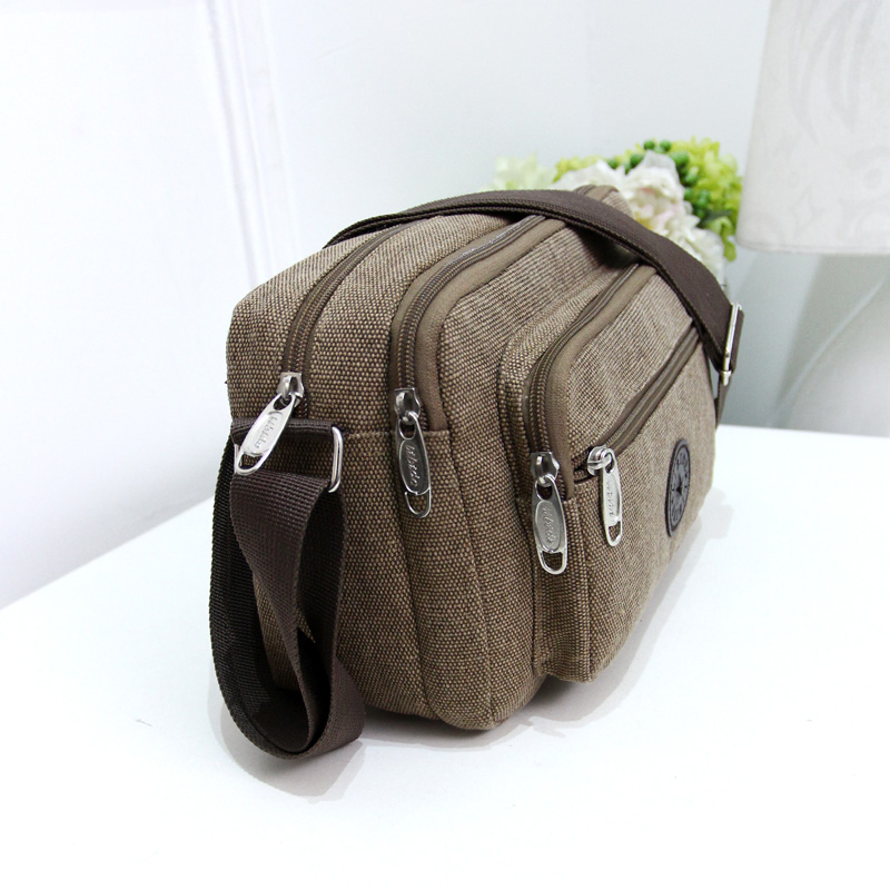 Hanging bag trend outdoor small shoulder bag pure black womens bag simple portable canvas bag personality fashion simple