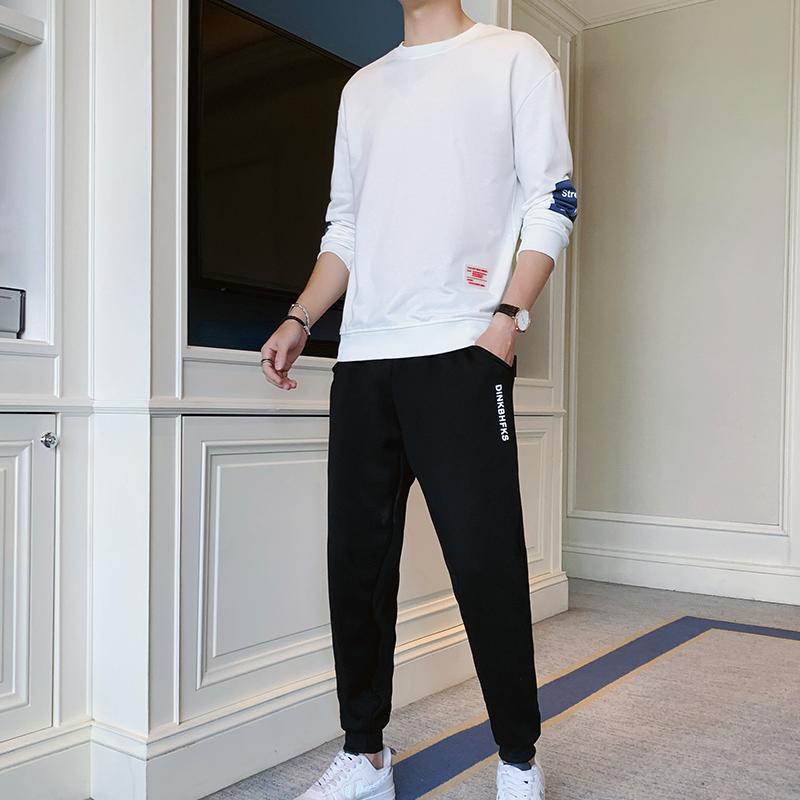 【两件装】秋季新款卫衣休闲运动套装青少年学生韩版潮流两件套