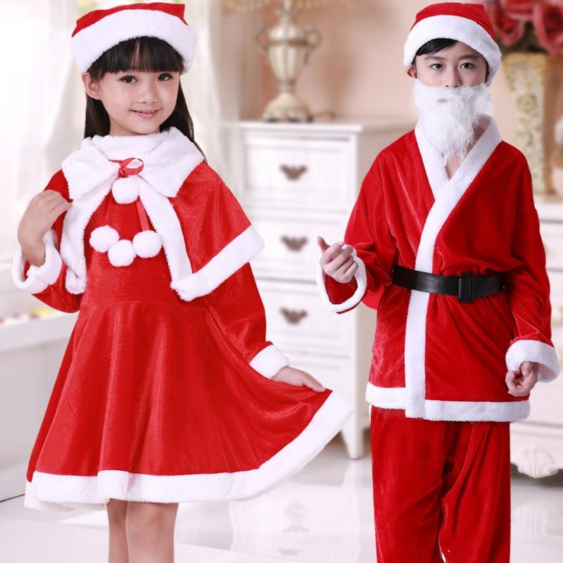 圣诞服装cos绒面老爷爷话剧角色男款幼儿园冬装男童套装主播儿童