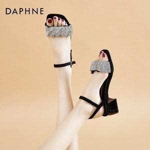达芙妮凉鞋女中跟2021年新款