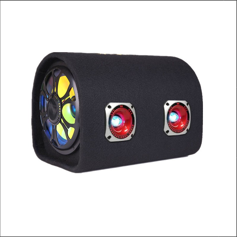 10寸隧道双高音有源车载重低音炮12Bv24v220v蓝牙插卡U盘汽车音响