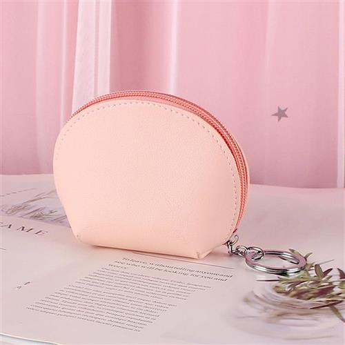 Pocket change female Korean cute simple hand holding student Mini Key coin pocket card bag two in one