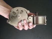 结实耐摔不锈钢墨斗工地木工专用墨斗放线墨斗金属手摇墨斗划线器