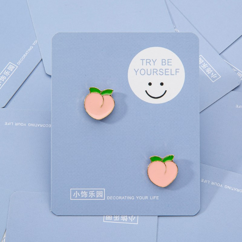Lovely Trinket Brooch high-end female pink peach corner badge anti light button pin accessories chest.