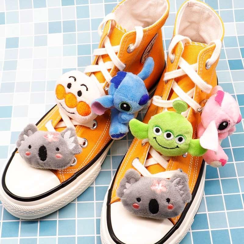 鞋子鞋装饰玩偶饰品鞋扣花卡通配件扣卡可爱鞋配件帆布带扣