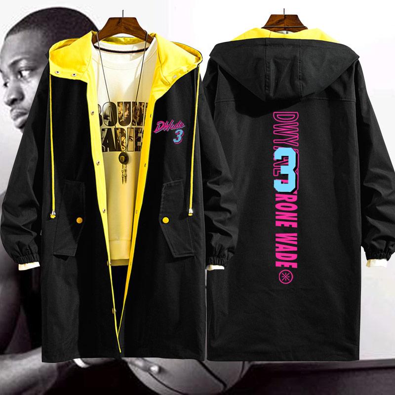 迈阿密热火韦德城市版训练服闪电侠篮球运动男女中长款风衣外套N