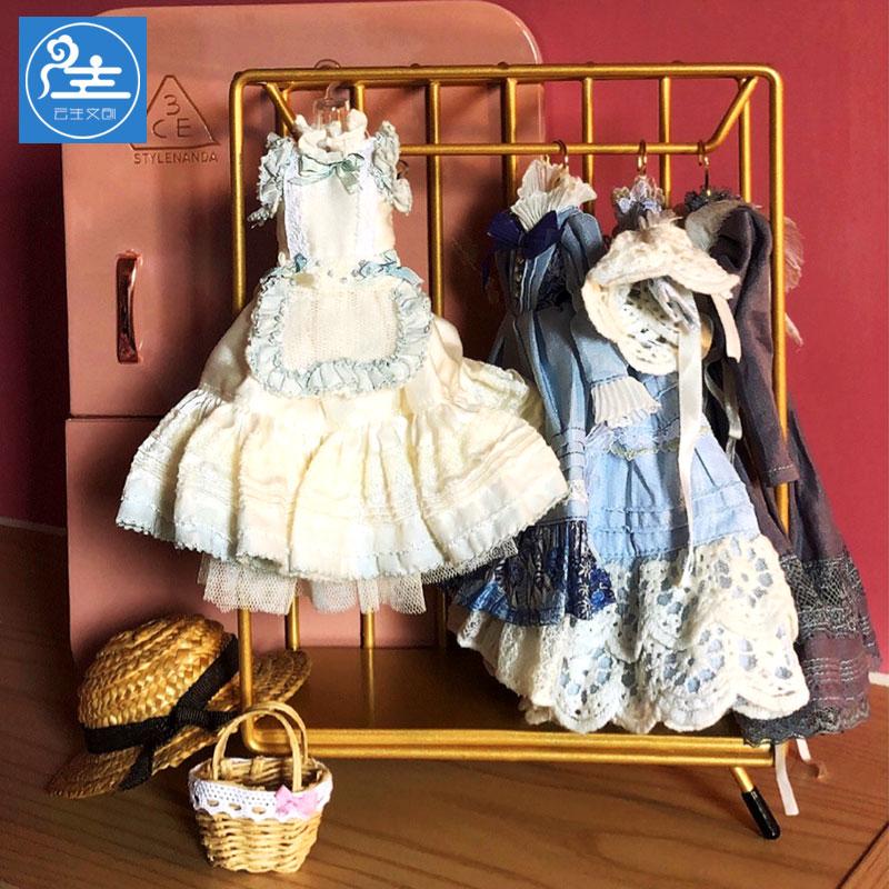 新品创意BJD娃娃挂n衣架子烤漆金属简约铁艺衣挂迷你ob11娃衣衣柜