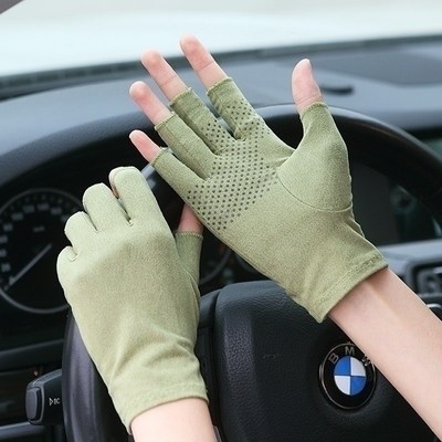 Thin fingers, sweaty hands, easy to drive, thin gloves, mens thin, breathable, summer half finger, summer non slip cross-country flow.